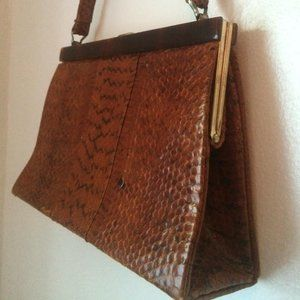 Vintage Reptile Embossed Bag